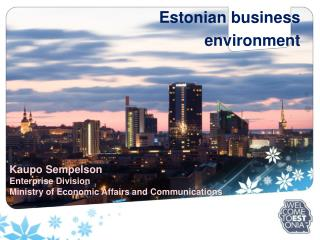 Estonian business environment