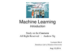 Machine Learning  Introduction