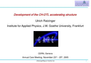 Development of the CH-DTL accelerating structure