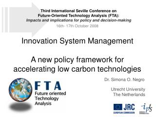 Innovation System Management   A new policy framework for accelerating low carbon technologies