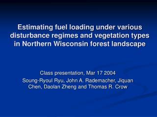 Class presentation, Mar 17 2004
