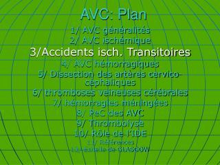 AVC: Plan