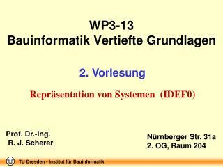 WP3-13  Bauinformatik Vertiefte Grundlagen