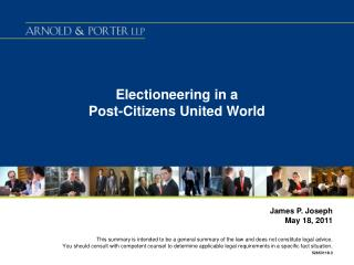 Electioneering in a  Post-Citizens United World