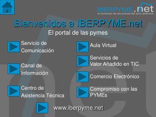 Bienvenidos a IBERPYME El portal de las pymes