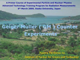 Nguyen Thi Duyen An Institute of Nuclear for Science and Technology