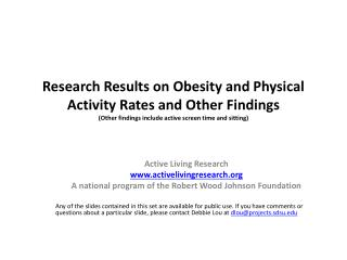 Active Living Research activelivingresearch