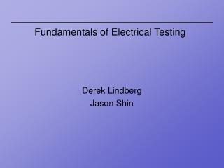 Fundamentals of Electrical Testing