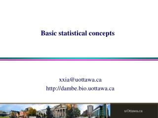 Basic statistical concepts