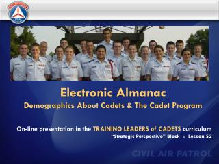 Electronic Almanac Demographics About Cadets & The Cadet Program