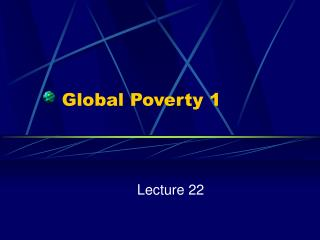 Global Poverty 1