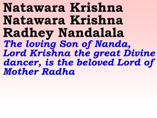 New 881 Natawara Krishna Natawara Krishna