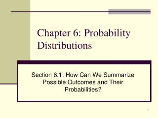 Chapter 6: Probability Distributions