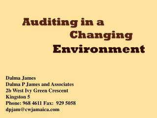Auditing in a 					Changing