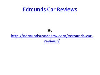 Edmunds Car Reviews