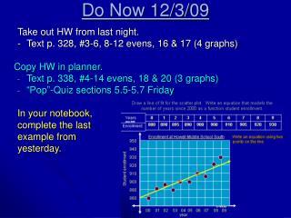 Do Now 12/3/09