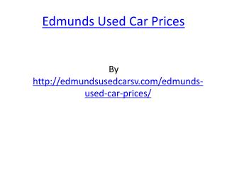 Edmunds Used Car Prices