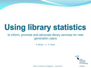 Using library statistics