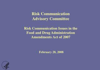 Food and Drug Administration Amendments Act of 2007 (FDAAA)