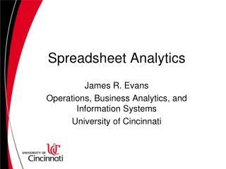 Spreadsheet Analytics