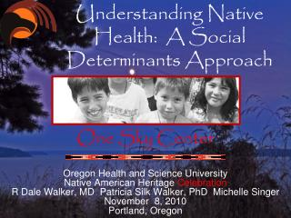 Understanding Native Health:  A Social  Determinants Approach