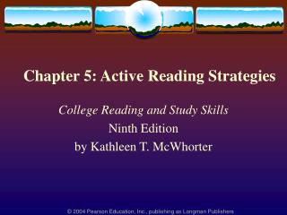 Chapter 5: Active Reading Strategies