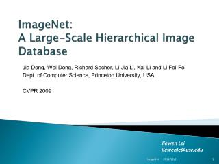 ImageNet :  A  Large-Scale Hierarchical Image Database