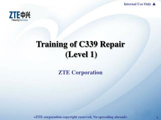 Training of C339 Repair (Level 1)