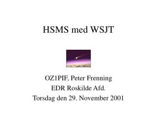 HSMS med WSJT