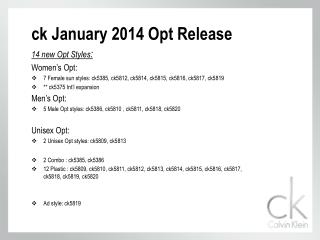 ck January 2014  Opt  Release