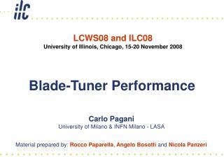 Blade-Tuner Performance