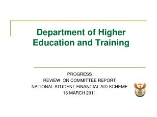 Department of Higher Education and Training