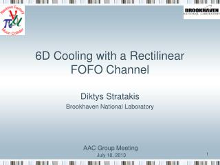 6D Cooling with a Rectilinear FOFO Channel