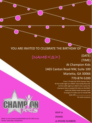 YOU ARE INVITED TO CELEBRATE THE BIRTHDAY OF  (NAME<S>)