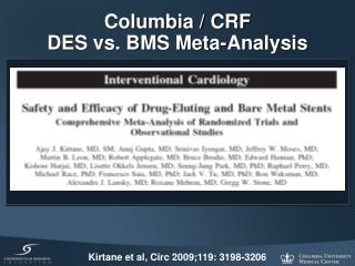 Columbia / CRF DES vs. BMS Meta-Analysis