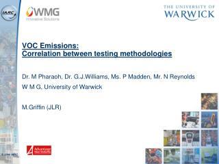 VOC Emissions: Correlation between testing methodologies