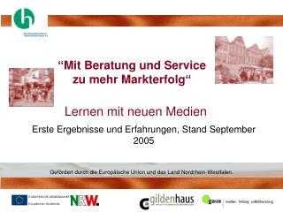 """""""Mit Beratung und Service  zu mehr Markterfolg"""""""