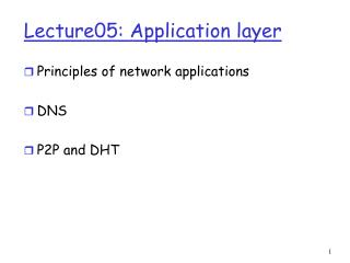 Lecture05: Application layer