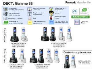 DECT: Gamme 83