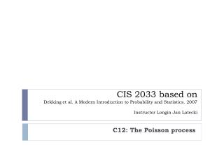 C12: The Poisson process