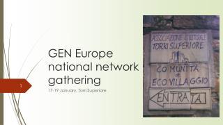 GEN Europe national network gathering