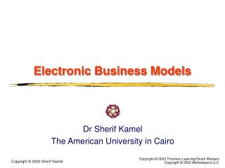 Electronic Business Models