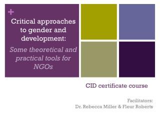CID certificate course