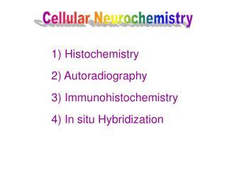 Cellular Neurochemistry
