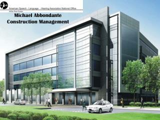 Michael Abbondante Construction Management