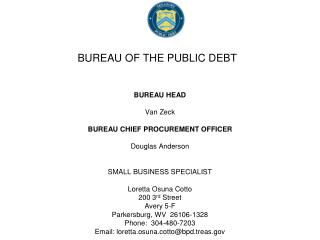 BUREAU OF THE PUBLIC DEBT