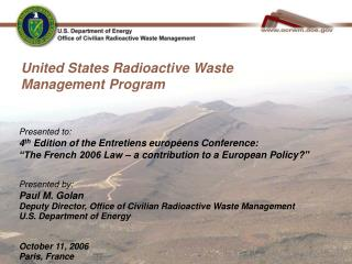 United States Radioactive Waste Management Program