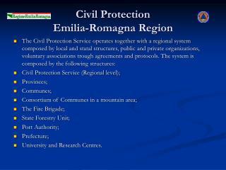Civil Protection  Emilia-Romagna Region