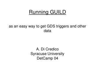 Running GUILD