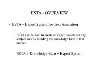 ESTA - OVERVIEW